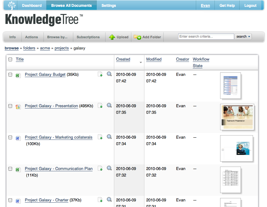 Knowledgetree-screenshot